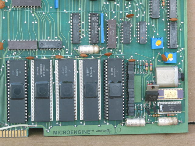 WD/900 component side, lower right corner, showing WD/9000 Microengine chipset.