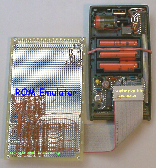 HP-67 and ROM emulator, circuit side