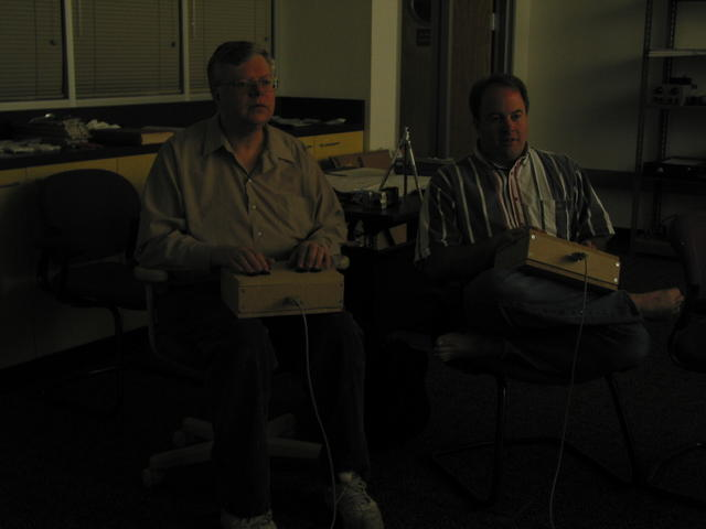 Mike Cheponis and Ken Sumrall playing Spacewar